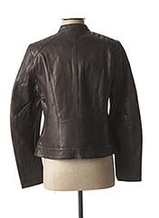 Veste en cuir marron ROSE GARDEN pour femme seconde vue