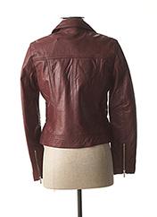 Veste en cuir violet ROSE GARDEN pour femme seconde vue