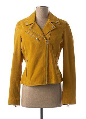 T-shirt manches longues jaune ROSE GARDEN pour femme
