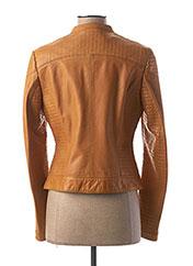 Veste en cuir jaune ROSE GARDEN pour femme seconde vue