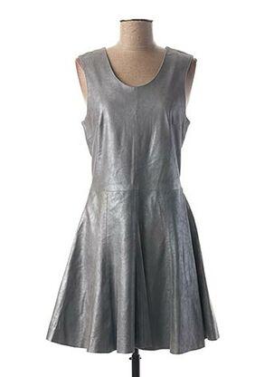 Robe mi-longue gris ROSE GARDEN pour femme