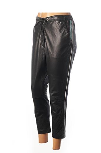 Pantalon 7/8 noir ROSE GARDEN pour femme