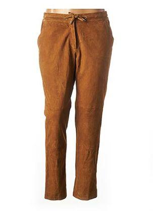 Pantalon casual marron ROSE GARDEN pour femme