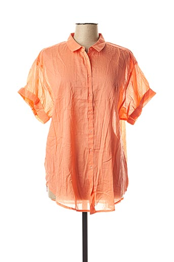 Chemisier manches courtes orange CREAM pour femme