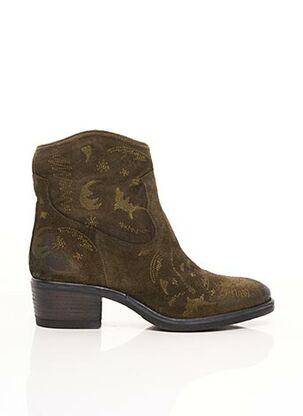 Bottines/Boots vert COM CREATION OF MINDS pour femme