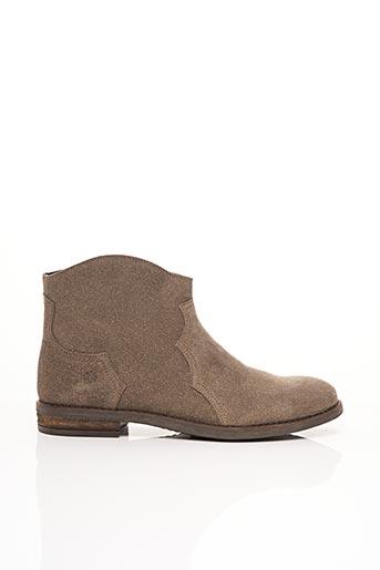 Bottines/Boots beige ACEBOS pour femme