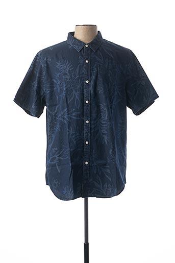 Chemise manches courtes bleu SUPERDRY pour homme