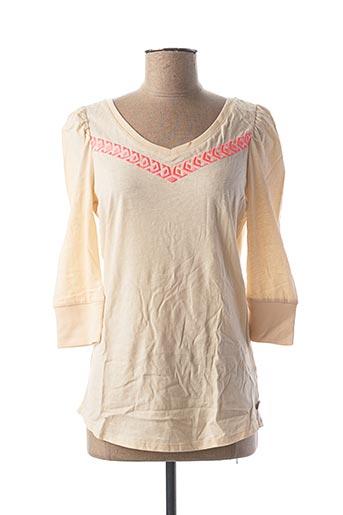 T-shirt manches longues beige MAISON SCOTCH pour femme