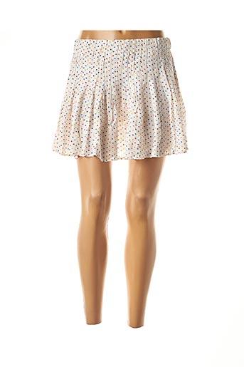 Jupe courte blanc ANNA pour femme