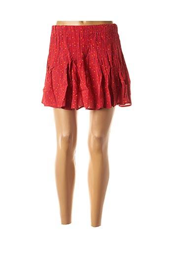 Jupe courte rouge ANNA pour femme