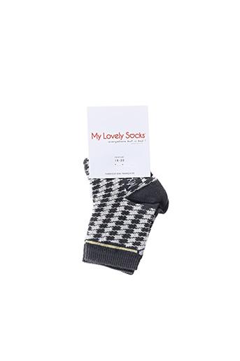 Chaussettes noir MY LOVELY SOCKS pour enfant