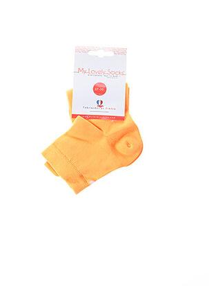 Chaussettes orange MY LOVELY SOCKS pour enfant