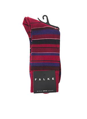 Chaussettes rouge FALKE pour homme