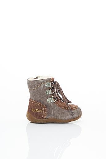 Bottines/Boots marron KICKERS pour enfant