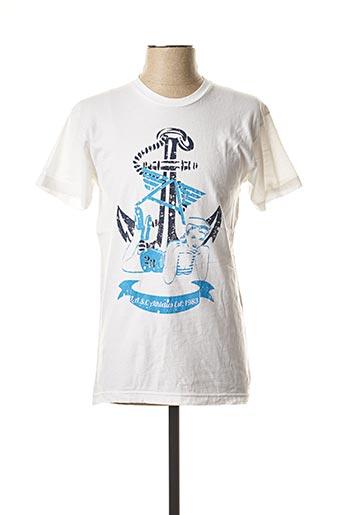 T-shirt manches courtes blanc LASC pour homme
