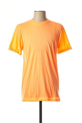 T-shirt manches courtes orange BRAVE SOUL pour homme