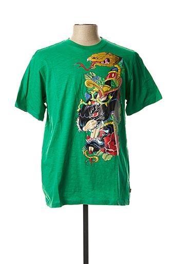 T-shirt manches courtes vert XTG pour homme