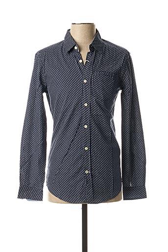 Chemise manches longues bleu ALCOTT pour homme