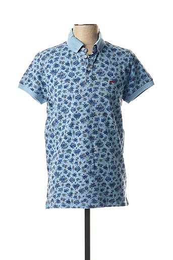 Polo manches courtes bleu DR JUNKY AND MR HIGH pour homme