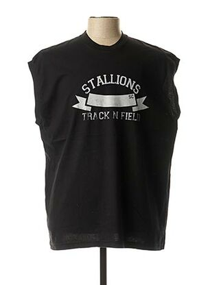 T-shirt manches courtes noir LASC pour homme