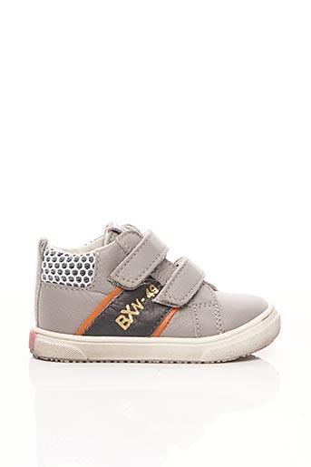 Baskets gris BOPY pour garçon