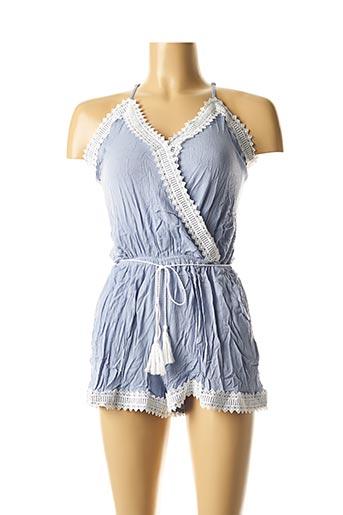 Combishort bleu MOLLY BRACKEN pour femme