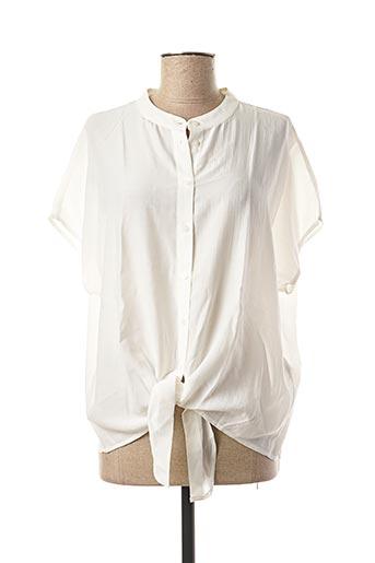 Chemisier manches courtes blanc VILA pour femme