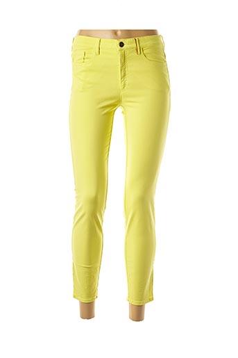 Jeans coupe slim jaune COUTURIST pour femme