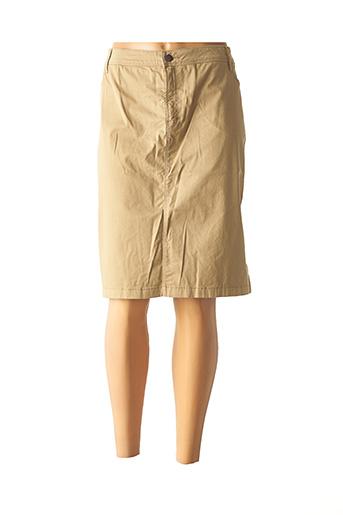 Jupe mi-longue beige COUTURIST pour femme