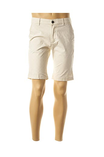 Bermuda beige SELECTED pour homme