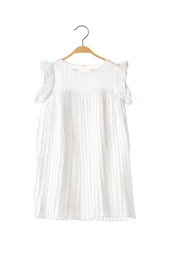 Robe mi-longue blanc CATIMINI pour fille