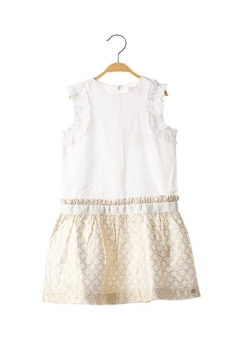 Robe mi-longue blanc LILI GAUFRETTE pour fille