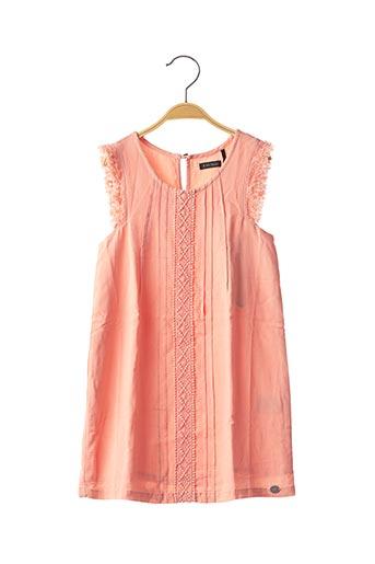 Robe mi-longue orange IKKS pour fille