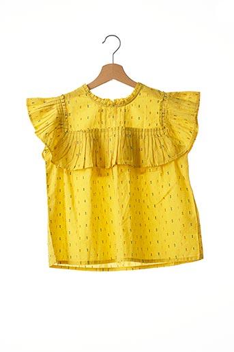 Blouse manches courtes jaune CATIMINI pour fille