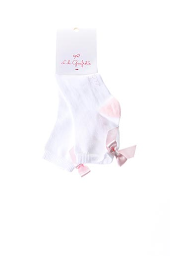 Chaussettes blanc LILI GAUFRETTE pour fille