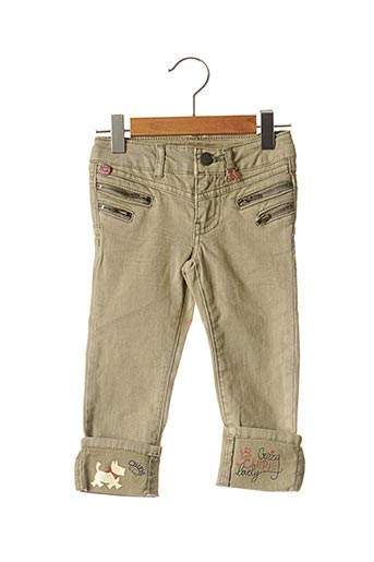 Jeans skinny vert CHIPIE pour fille