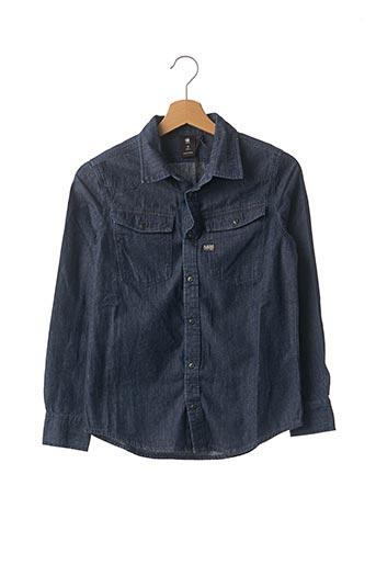 Chemise manches longues bleu G STAR pour garçon