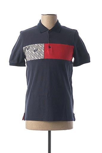 Polo manches courtes bleu IKKS pour homme