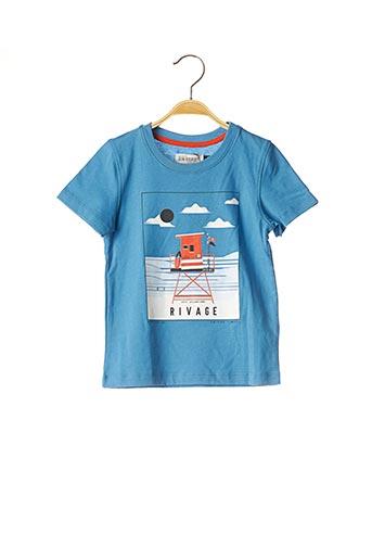 T-shirt manches courtes bleu JEAN BOURGET pour garçon