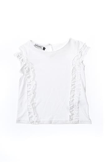 T-shirt manches courtes blanc JEAN BOURGET pour fille