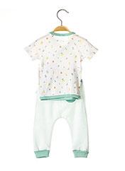 Pyjama vert ABSORBA pour fille seconde vue