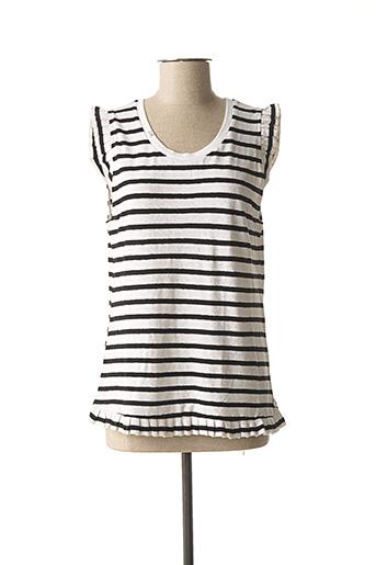 T-shirt manches courtes blanc SCOTCH & SODA pour femme