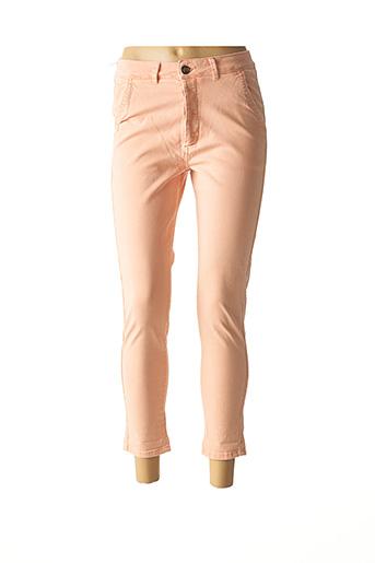 Pantalon 7/8 rose REIKO pour femme