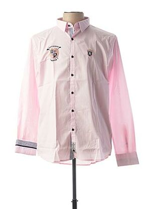 Chemise manches longues rose ARISTOW pour homme
