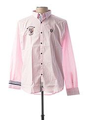 Chemise manches longues rose ARISTOW pour homme seconde vue