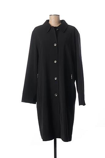 Manteau long noir FE CLASSIQUE CLUB pour femme