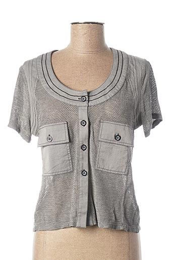 Veste casual gris UN POINT C EST TOUT pour femme