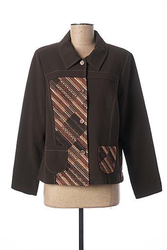 Veste casual marron JEAN DELFIN pour femme