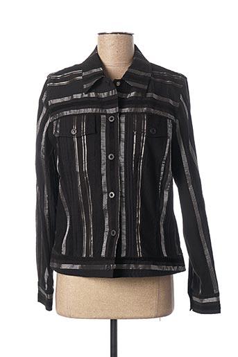 Veste casual noir FRANK EDEN pour femme
