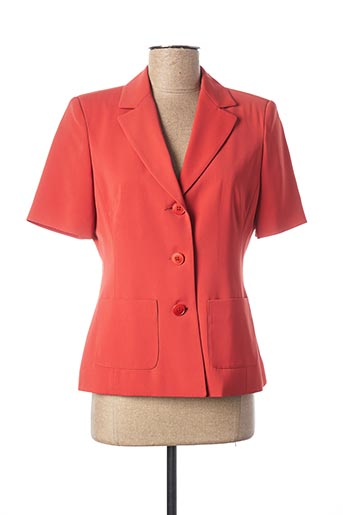 Veste chic / Blazer orange FEDORA pour femme